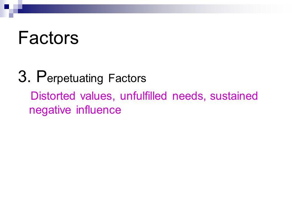 Factors 3. Perpetuating Factors