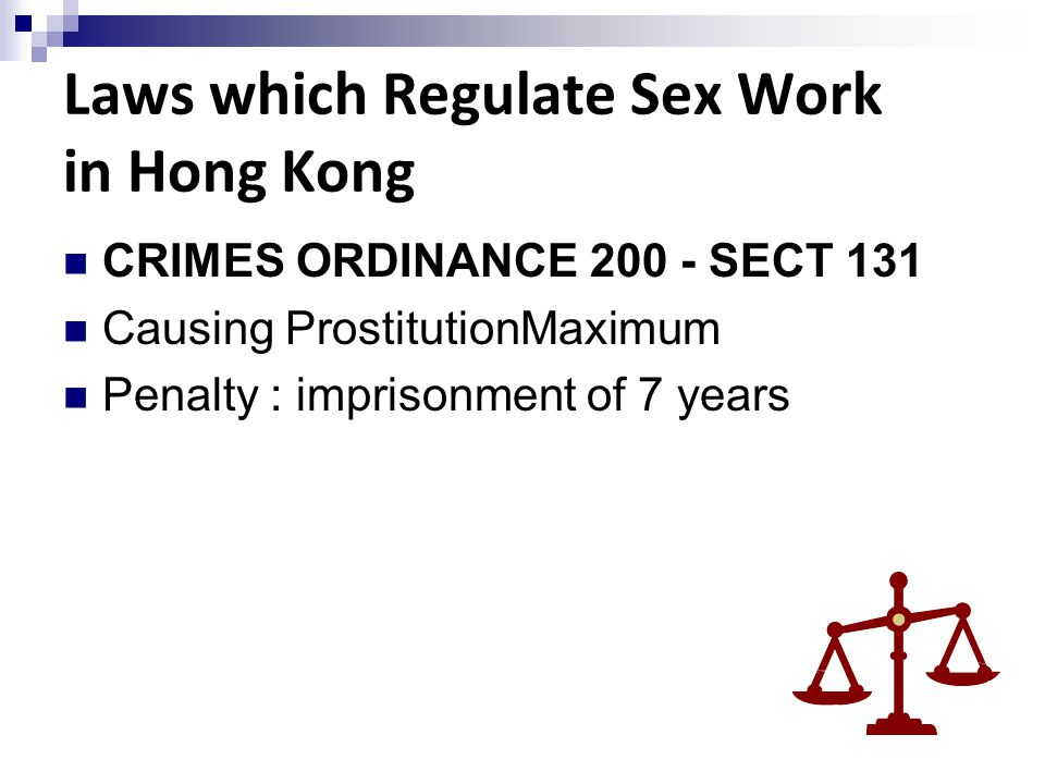Laws which Regulate Sex Work in Hong Kong