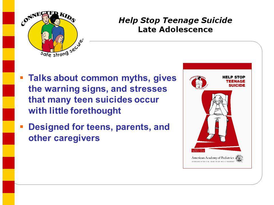 Help Stop Teenage Suicide