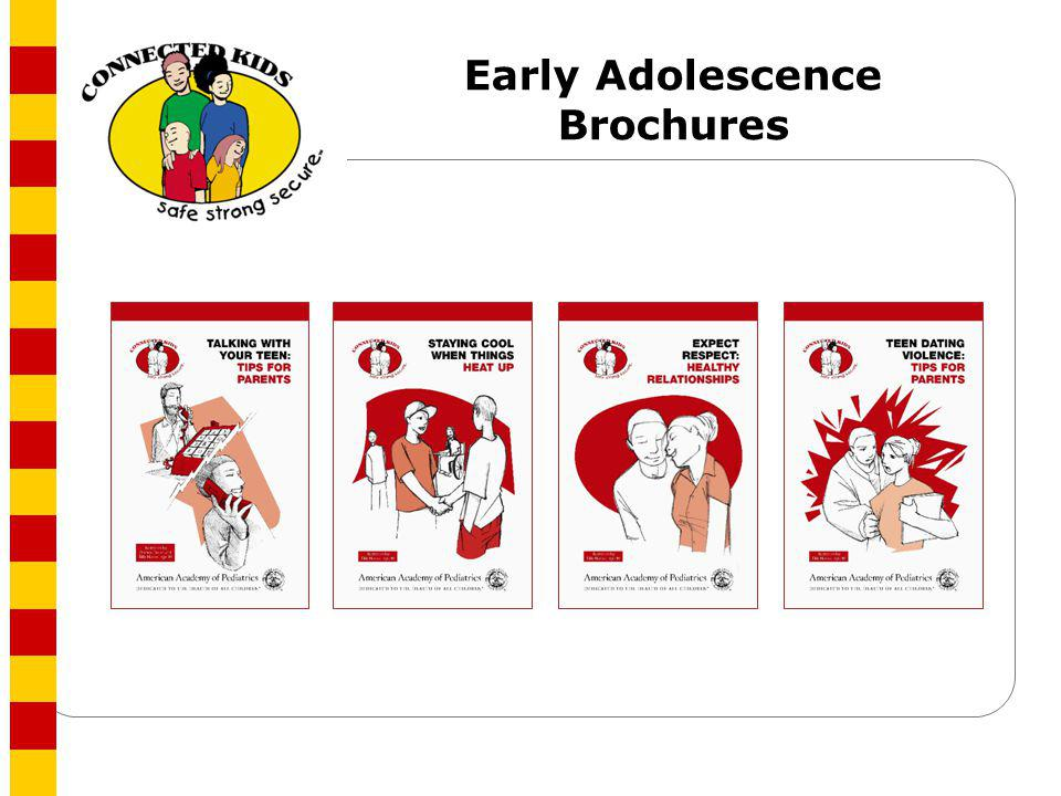 Early Adolescence Brochures