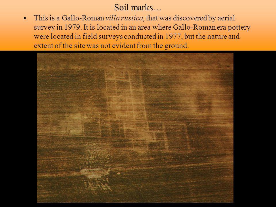 Soil marks…