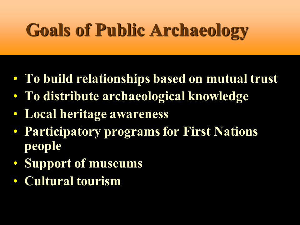 Goals of Public Archaeology