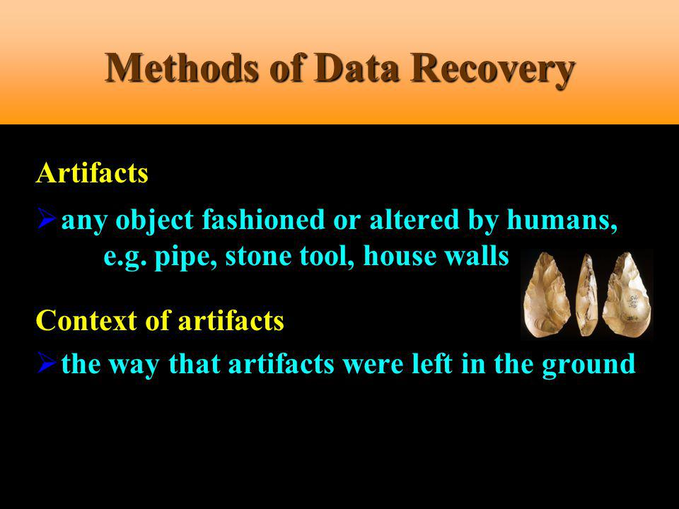 Methods of Data Recovery