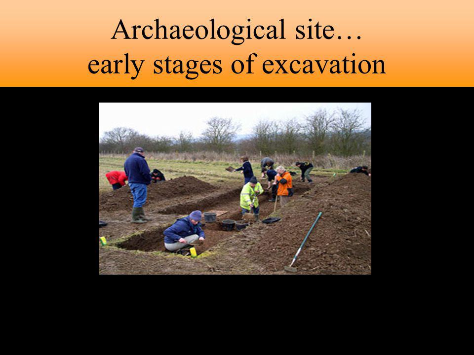 Archaeological site… early stages of excavation