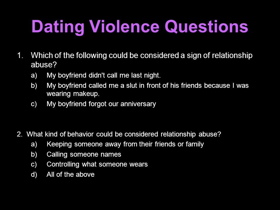 Dating Violence Questions