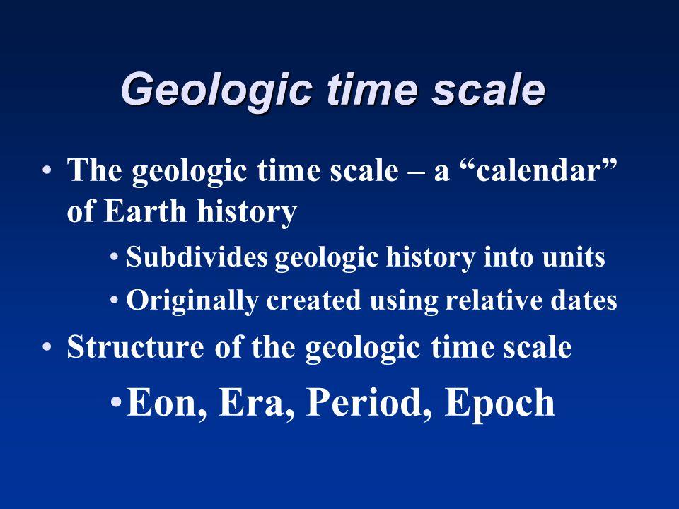 Geologic time scale Eon, Era, Period, Epoch