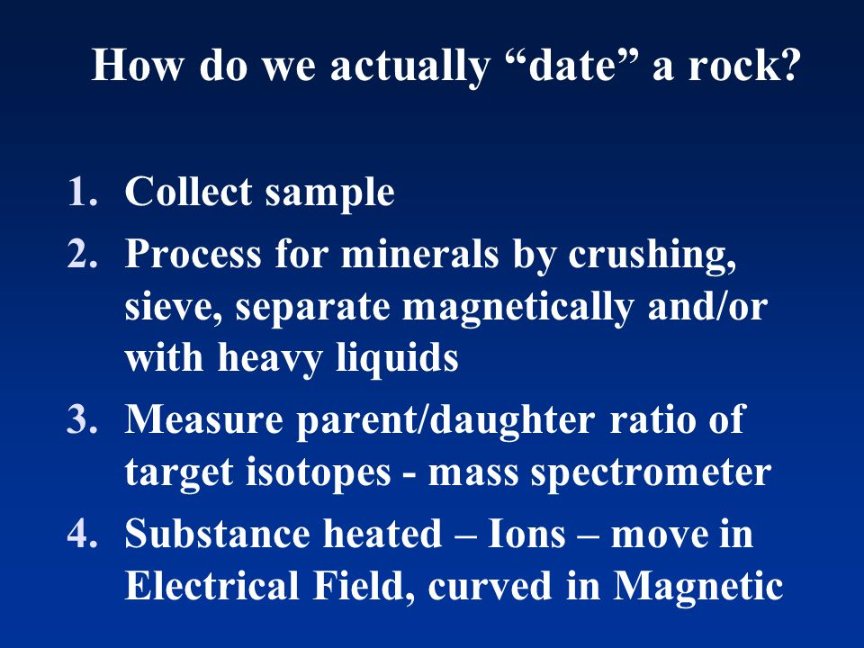 How do we actually date a rock