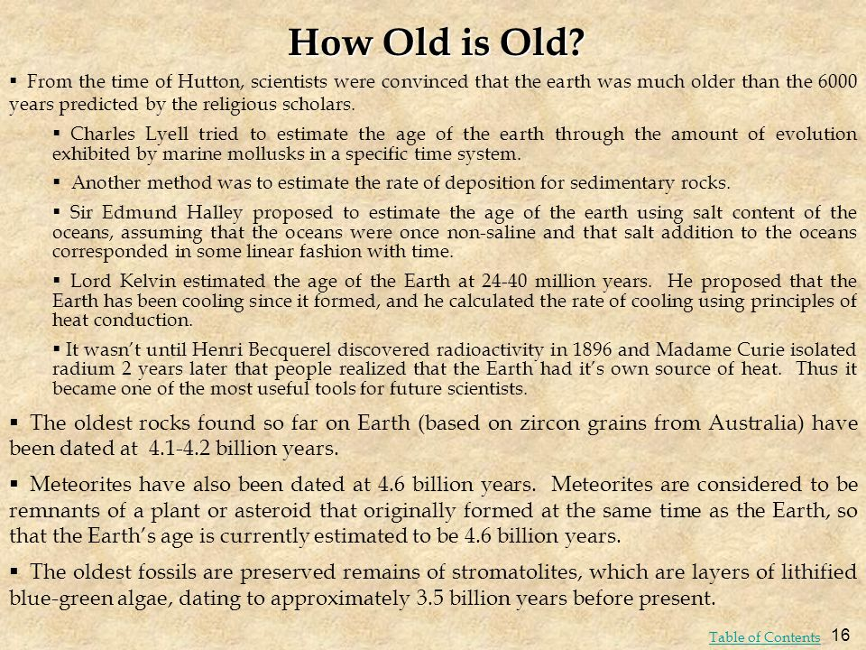 How Old is Old