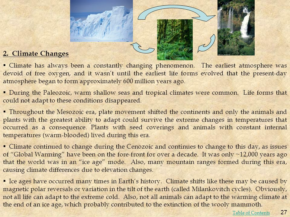 2. Climate Changes