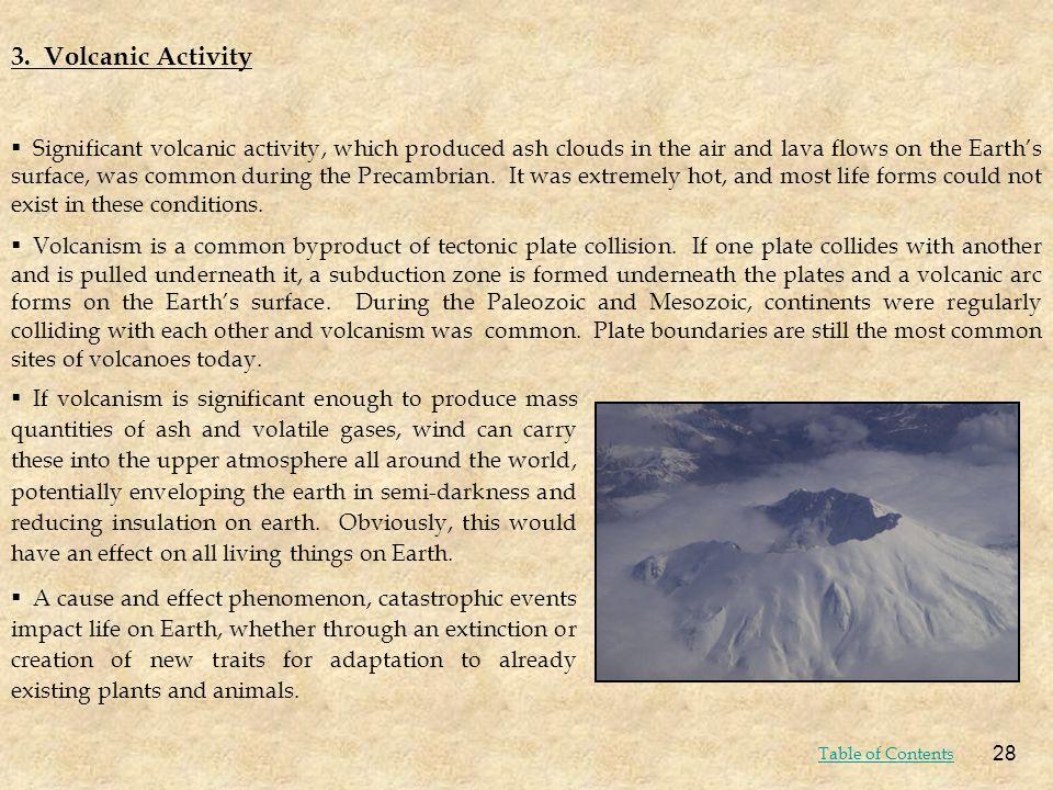 3. Volcanic Activity