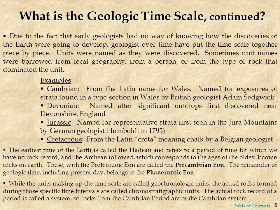What is the Geologic Time Scale, continued