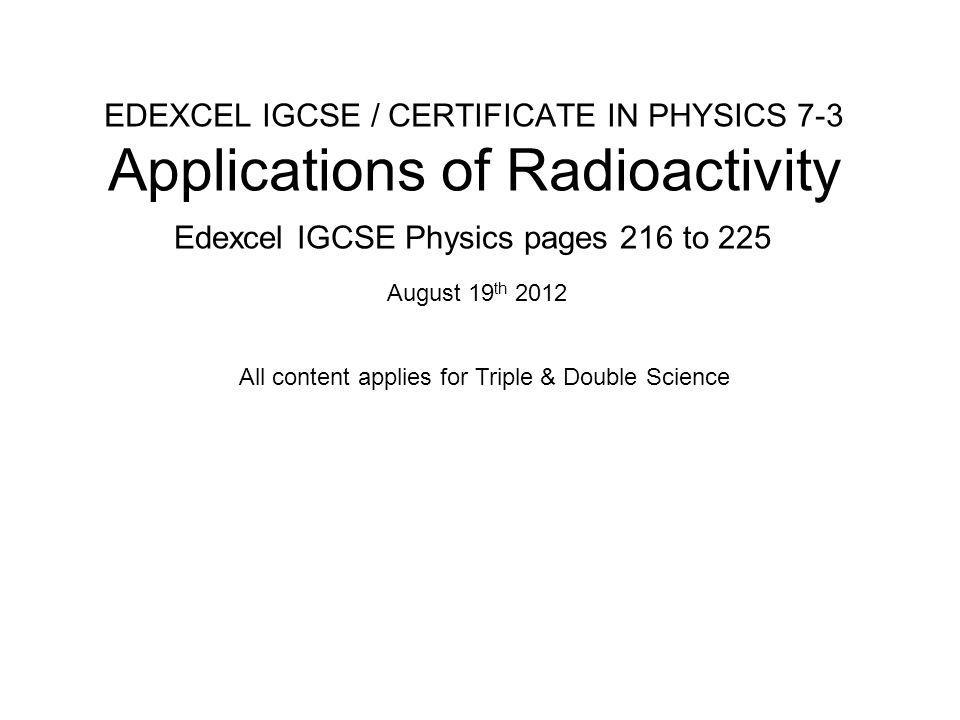 Edexcel IGCSE Physics pages 216 to 225