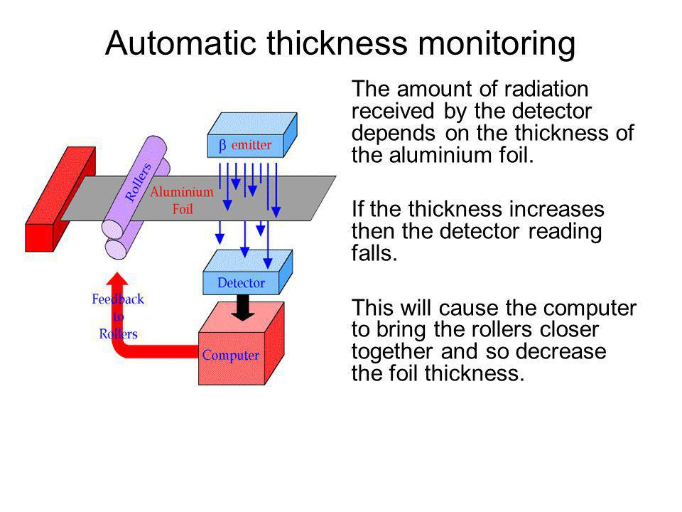 Automatic thickness monitoring
