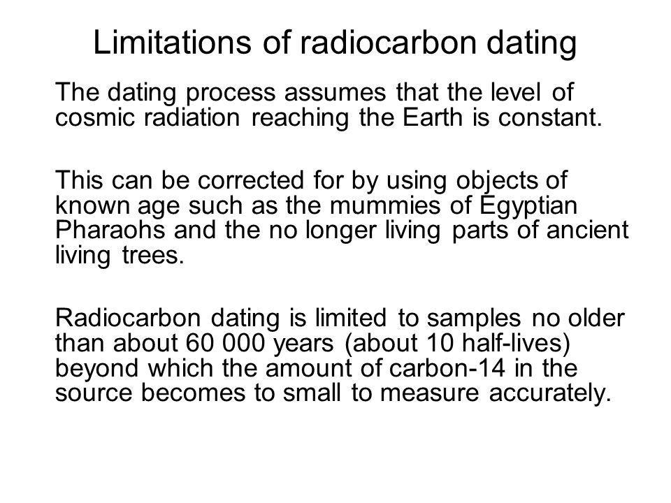 Limitations of radiocarbon dating