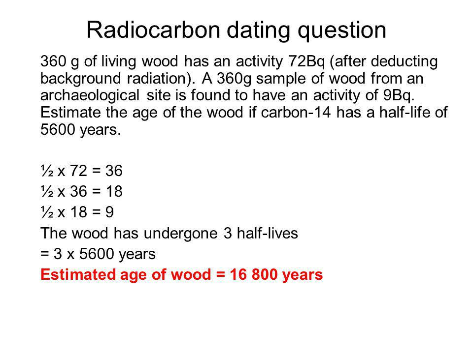 Radiocarbon dating question