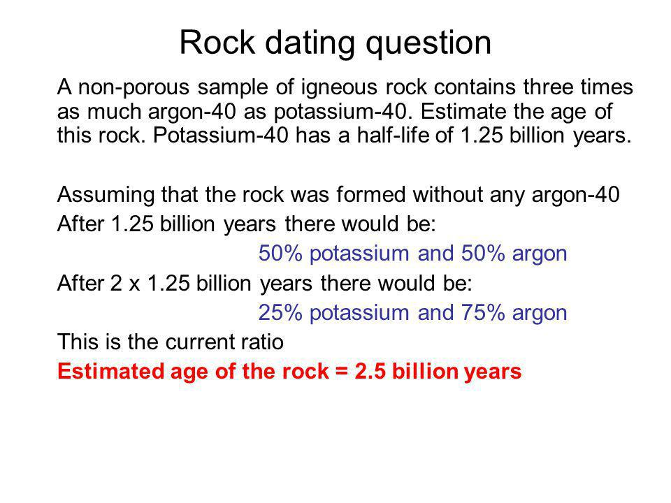 Rock dating question
