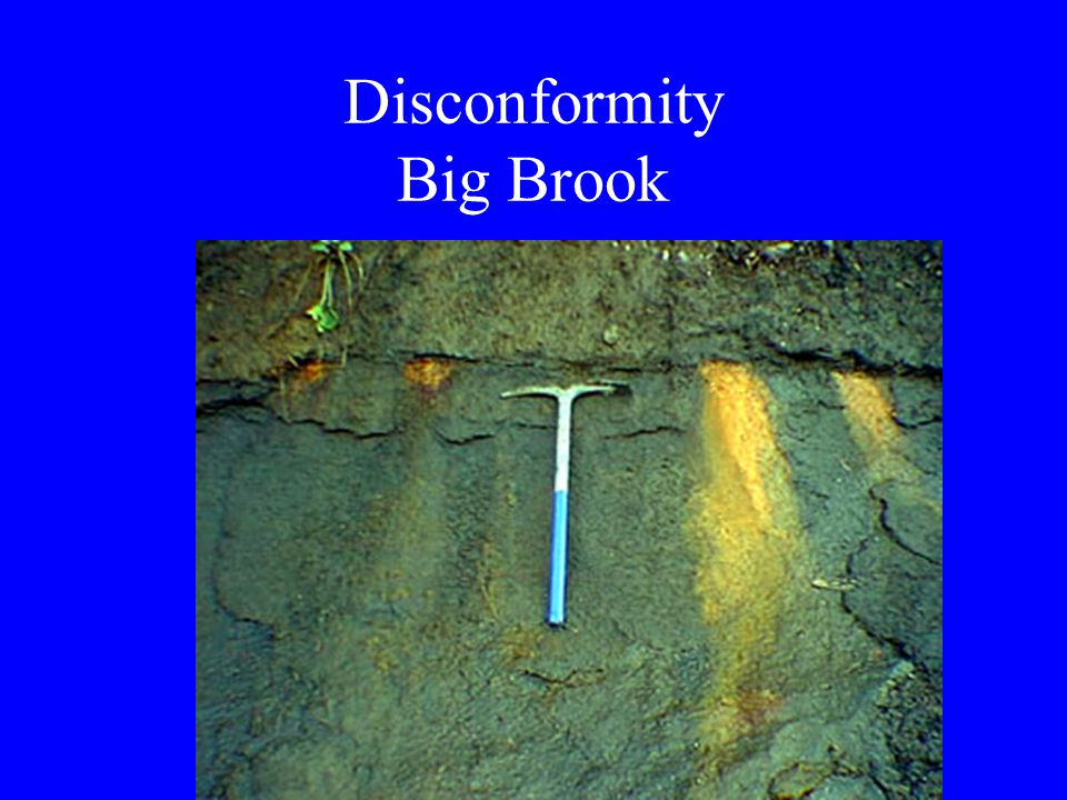 Disconformity Big Brook