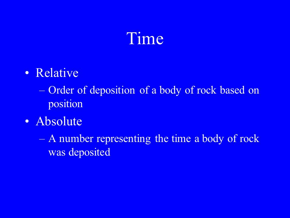 Time Relative Absolute