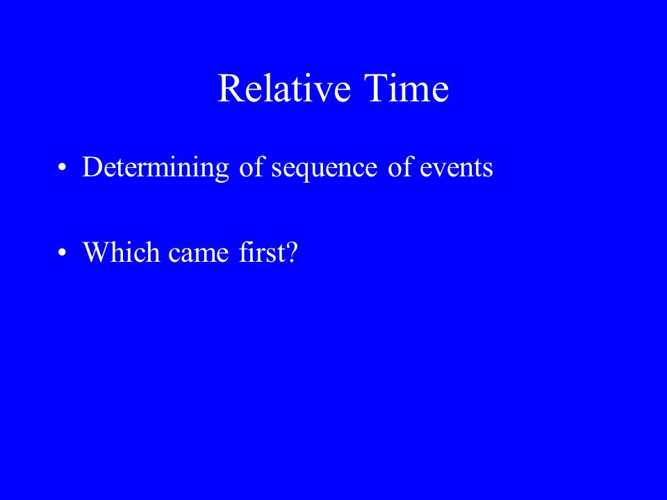 Relative Time Determining of sequence of events Which came first