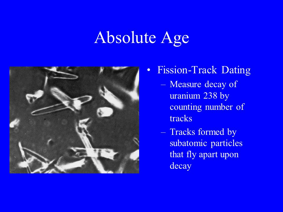 Absolute Age Fission-Track Dating