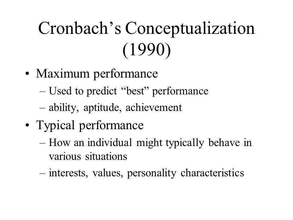 Cronbach's Conceptualization (1990)