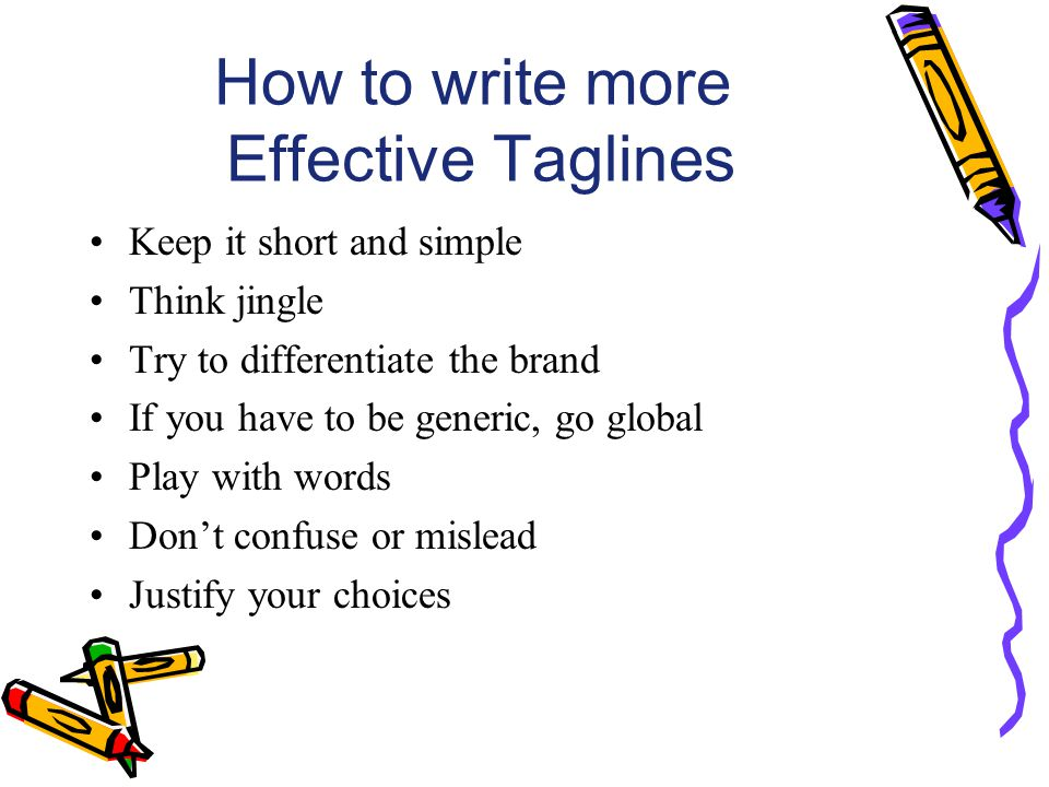 How to write more Effective Taglines