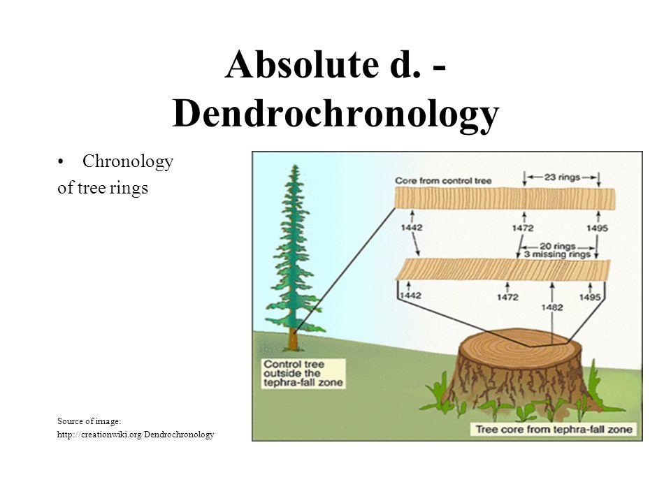 Absolute d. - Dendrochronology