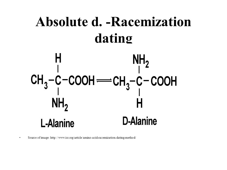 amino acid racemization dating Geoscience research institute interpretation of of amino acids in peptides from human fossil bone and its implications for amino acid racemization dating.
