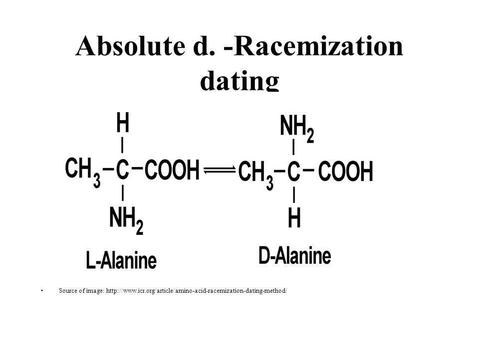 Absolute d. -Racemization dating