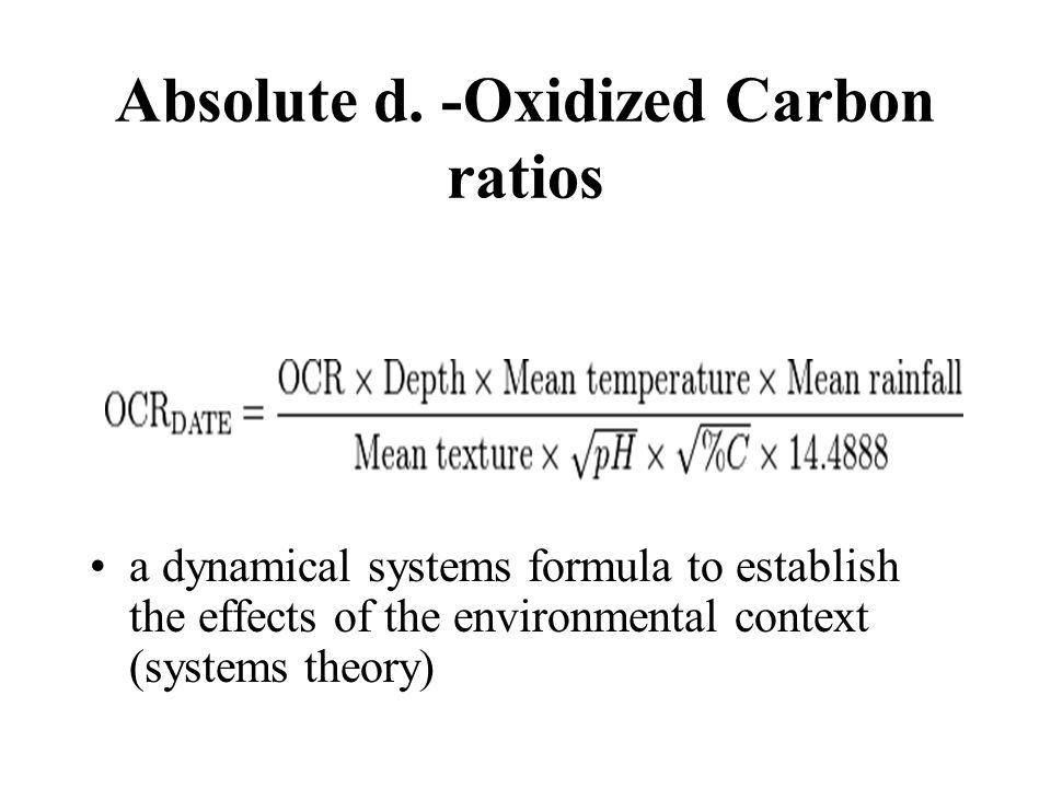 Absolute d. -Oxidized Carbon ratios