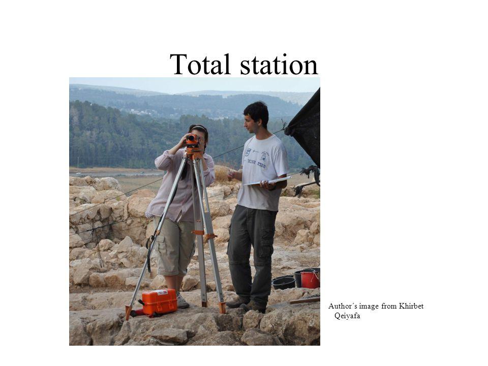 Total station Author´s image from Khirbet Qeiyafa