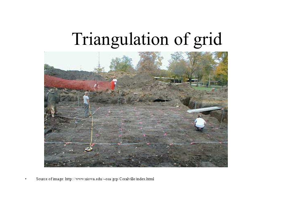 Triangulation of grid Source of image: http://www.uiowa.edu/~osa/gcp/Coralville/index.html