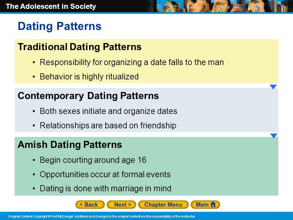 Dating Patterns Traditional Dating Patterns