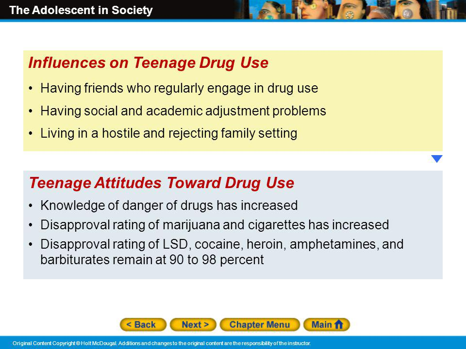 Influences on Teenage Drug Use