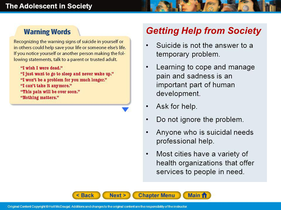Getting Help from Society