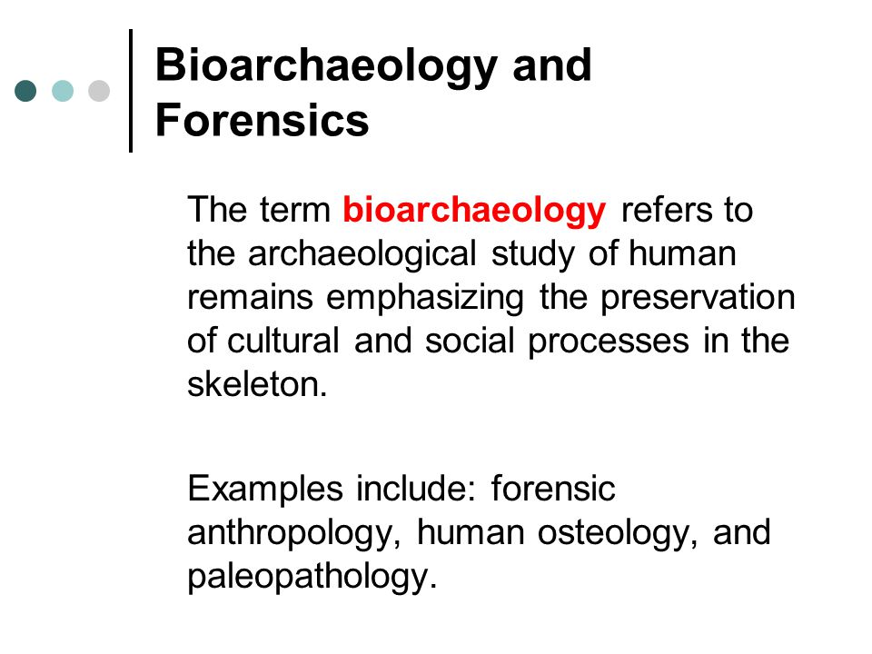 Bioarchaeology and Forensics
