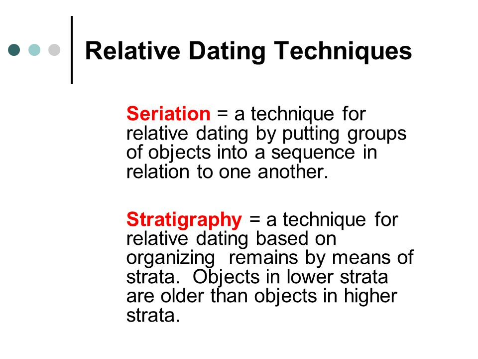 Absolute dating - - Relative and chronometric dating method