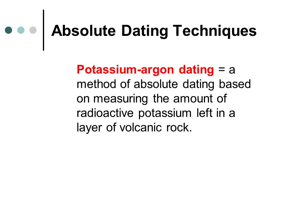 Absolute Dating Techniques