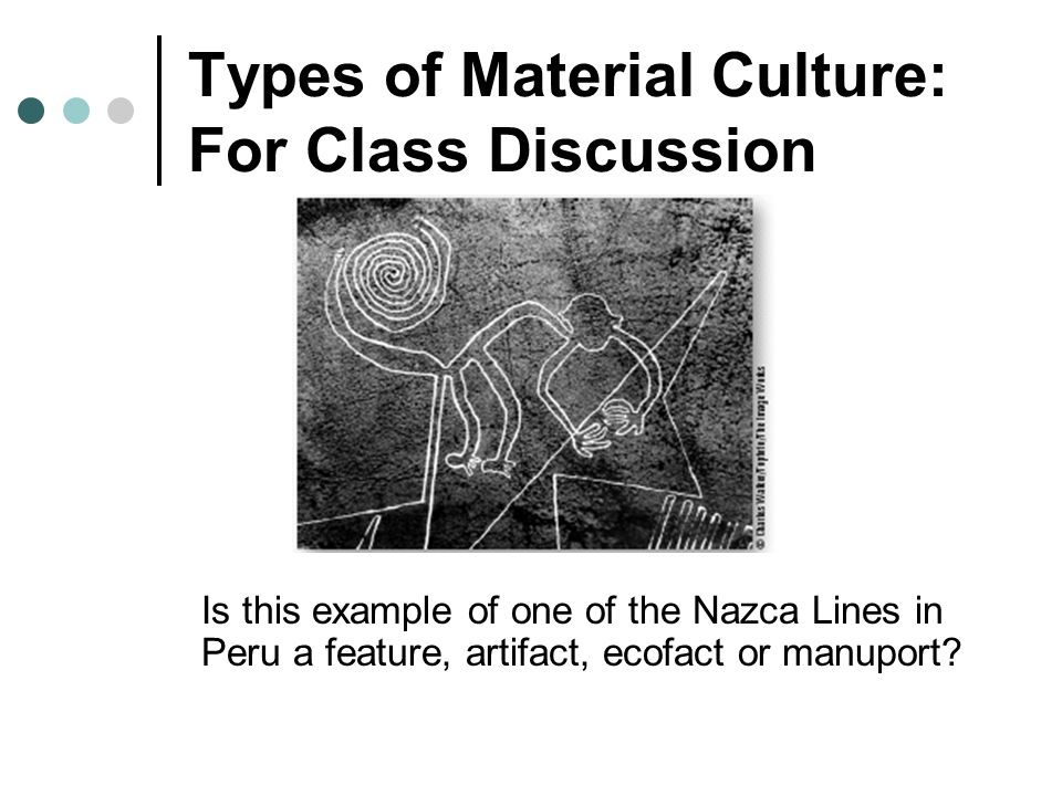 Types of Material Culture: For Class Discussion