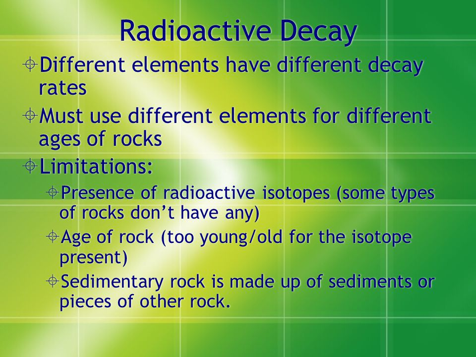 limitations of radiometric dating