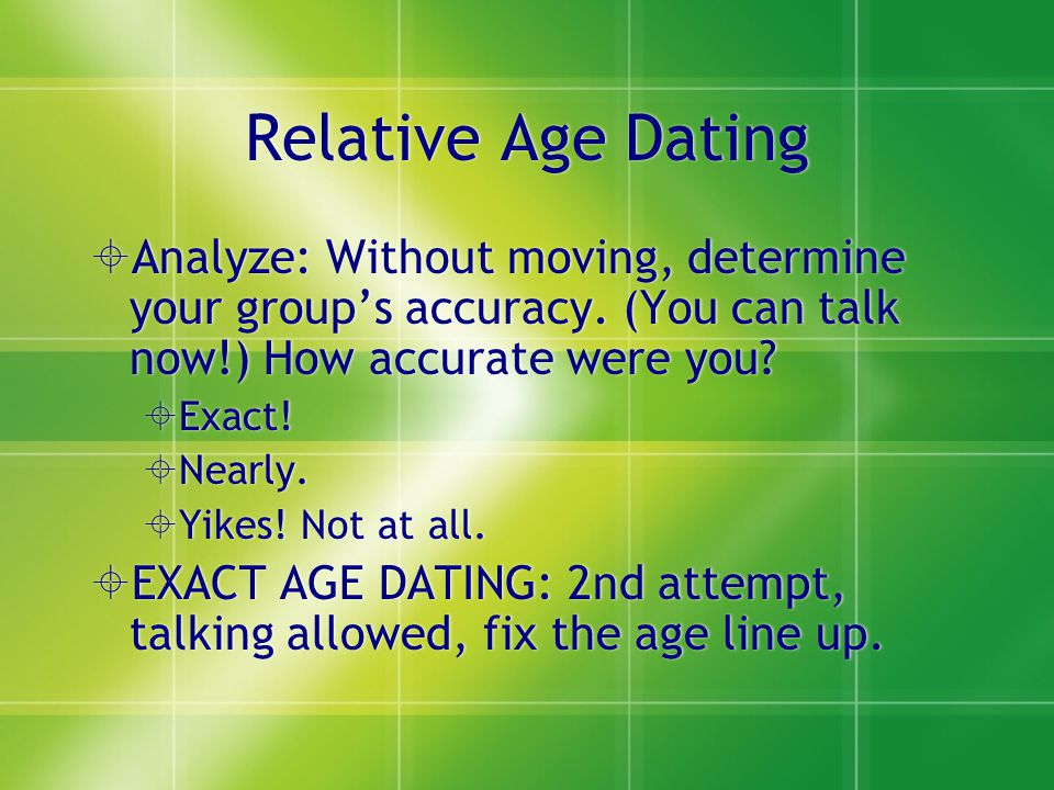 How Do You Do Relative Age Dating