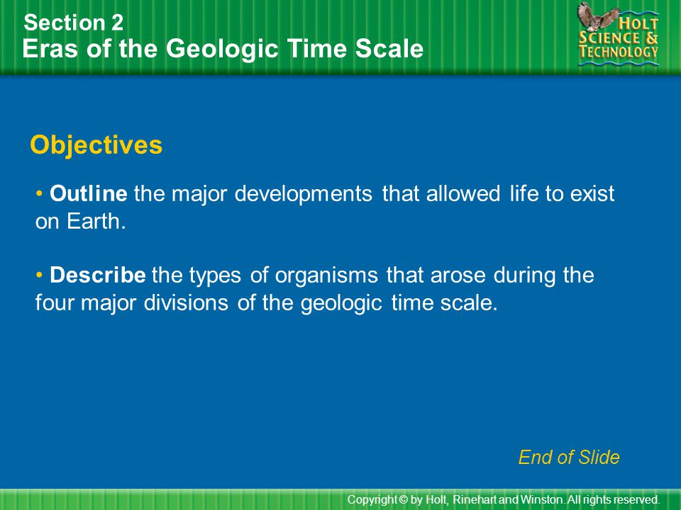 Eras of the Geologic Time Scale