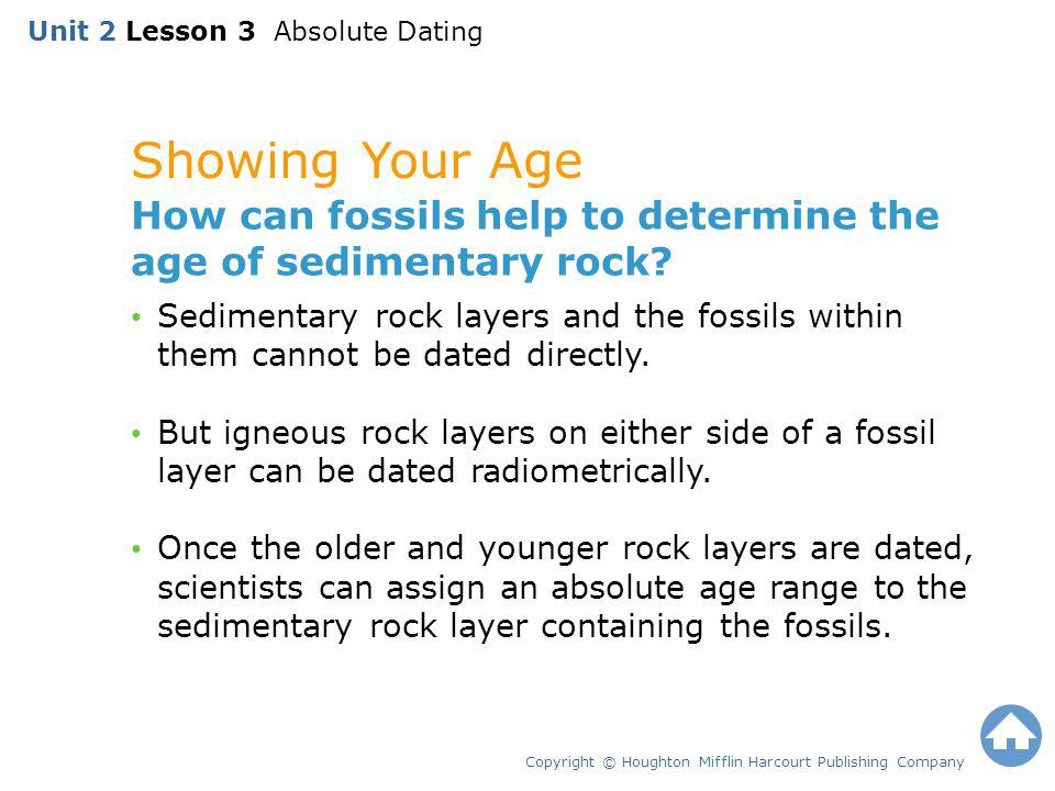 Unit 2 Lesson 3 Absolute Dating
