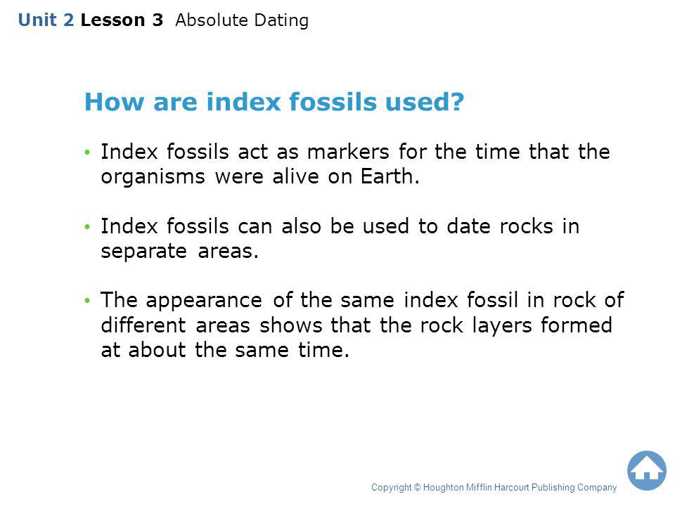 How are index fossils used