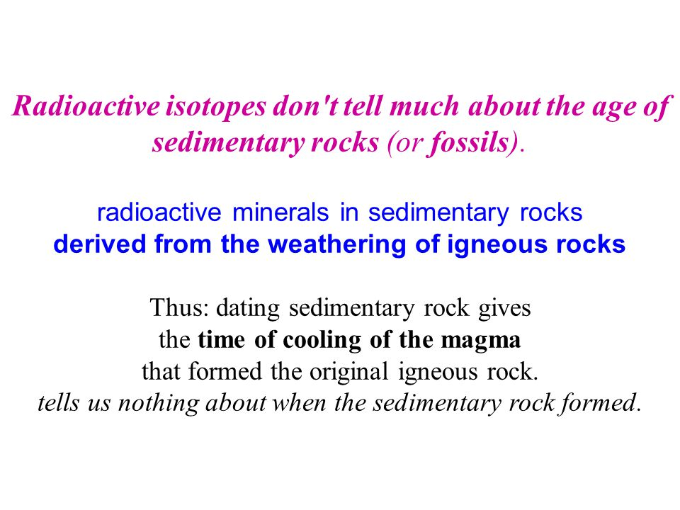 Radioactive isotopes don t tell much about the age of