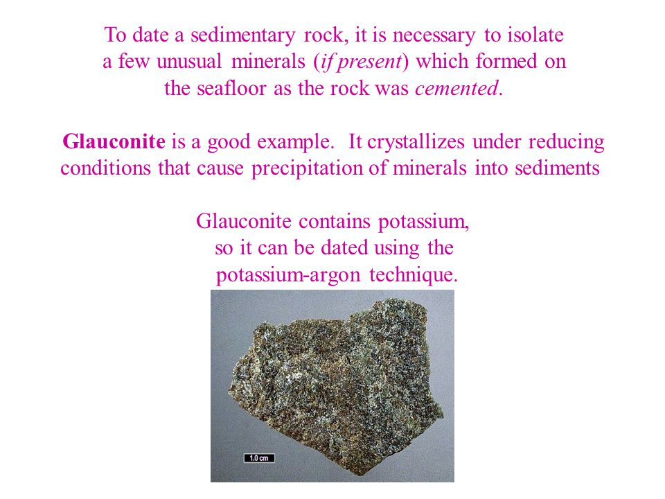 To date a sedimentary rock, it is necessary to isolate