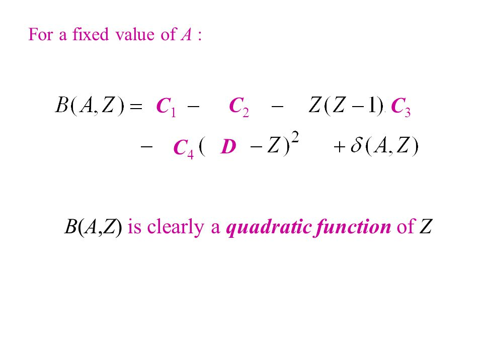 B(A,Z) is clearly a quadratic function of Z