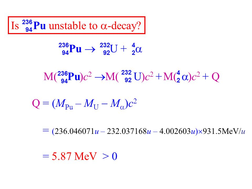 Is Pu unstable to -decay