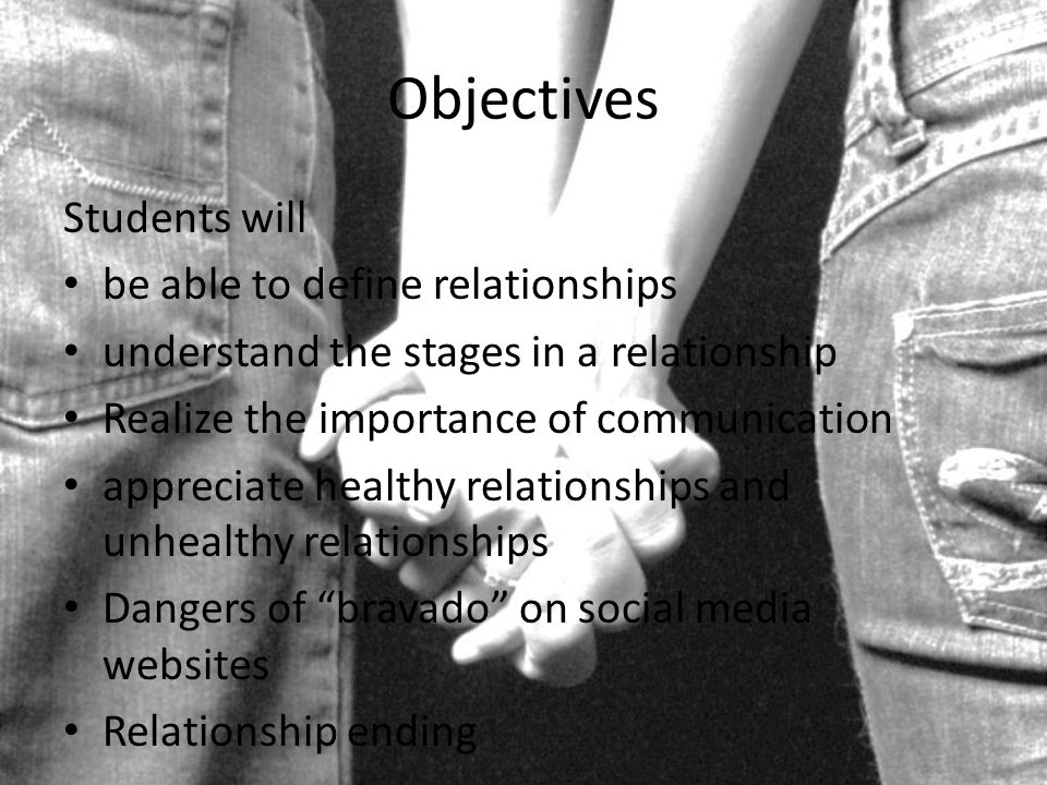 Objectives Students will be able to define relationships