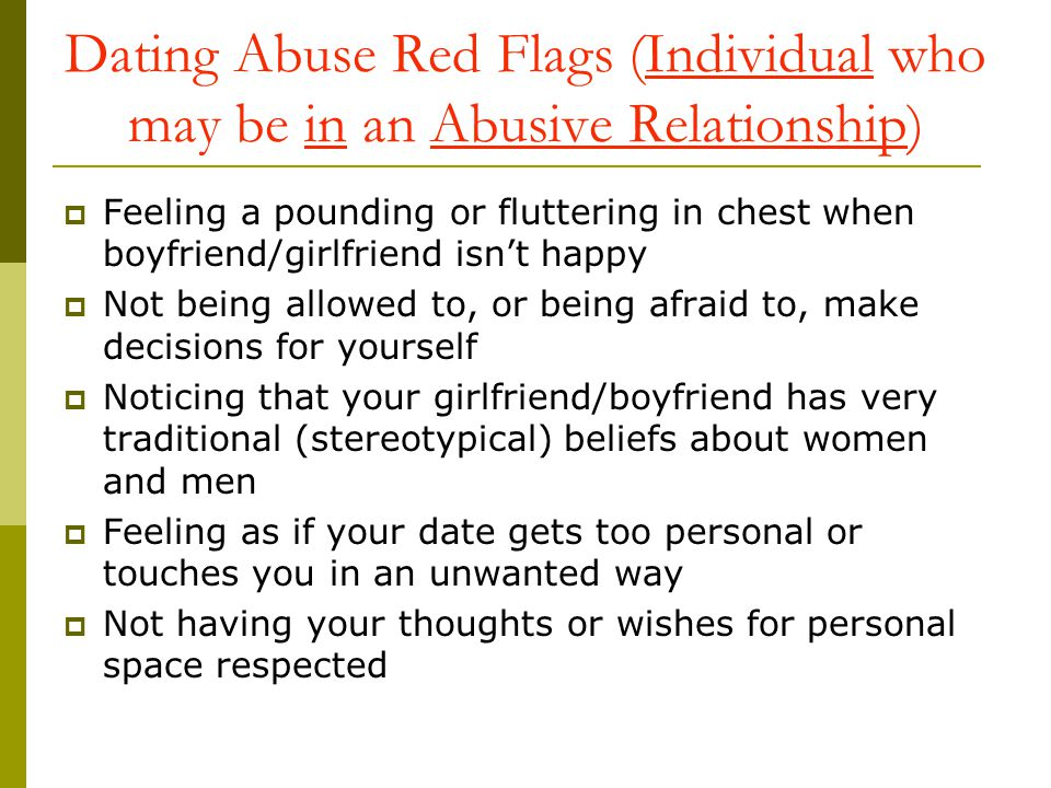 Dating a girl who was in an abusive relationship article